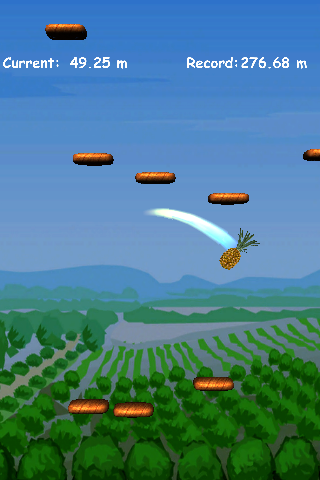 Screenshot pineapple Jump Free